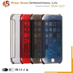 For pc plastic transparent flip cover iphone 6 card case, for iphone 6 6s and plus