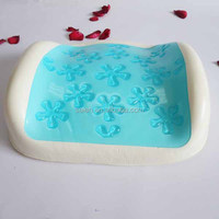 Flower design gel memory foam relax car seat back support