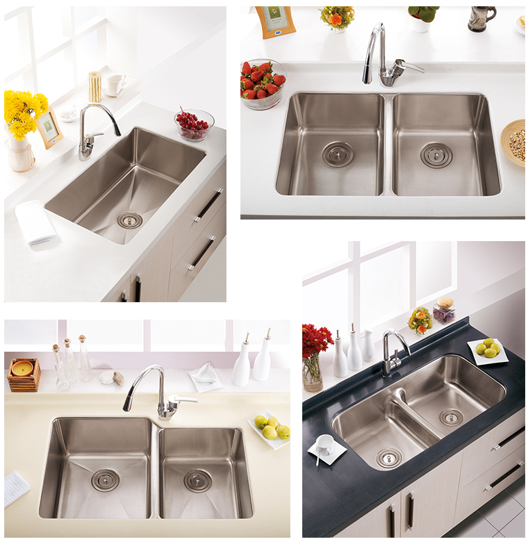 European Style Commercial Stainless Steel Restaurant Freestanding Kitchen Sinks