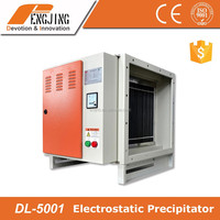 fume extractor for kitchen for grease purification and oil collection