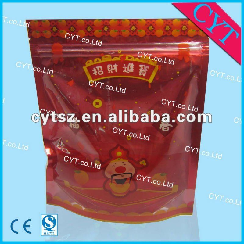 Packaging bags small zip bag ziplock bag for electric product colorful printing with clear window