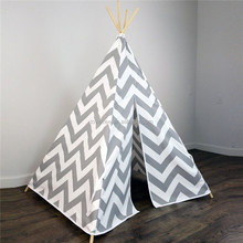 Great Quality Large Horizontal Stripe Canvas Outdoor Camping Tipi Tents