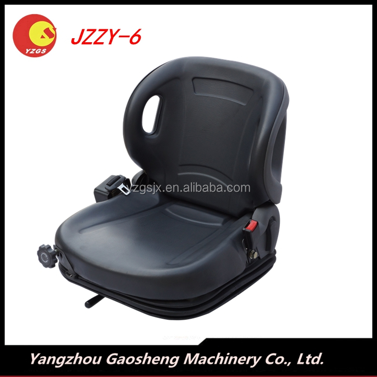 Top selling Toyota Forklift Seat,JZZY-6, Mechanical suspension System, Black PVC Leather forklift Seat