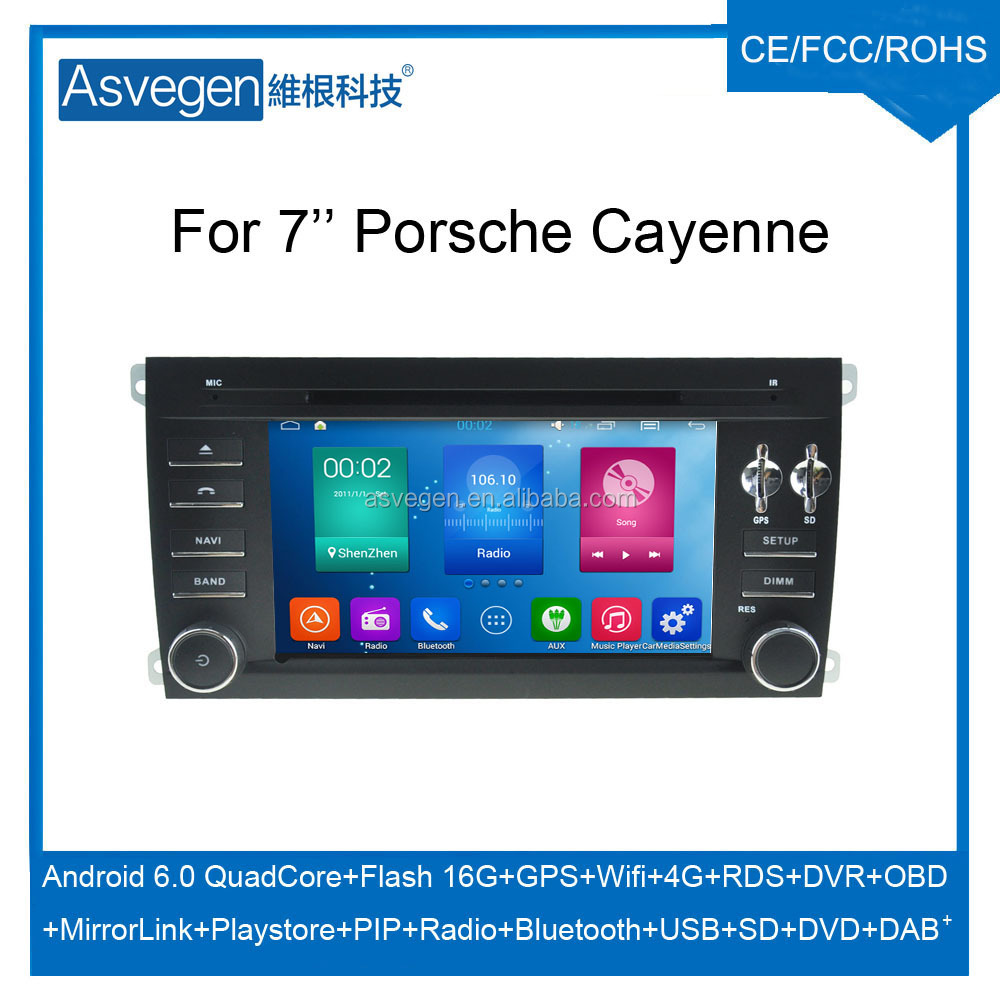 Wholesale Android Car DVD Player For 7'' Porsche Cayenne GPS Support Buletooth Radio Wifi Playstore With Auto Spare Parts Car