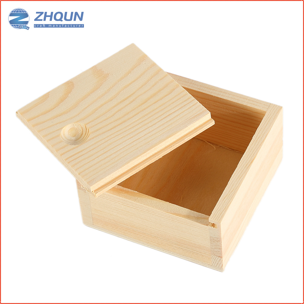 Custom unfinished wooden soap box with sliding cover