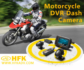 2017 New products dual lens 1080P HD motorcycle dvr cemara