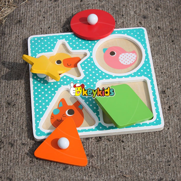 2017 new design baby wooden 3d puzzle,wholesale kids jigsaw puzzle,cheap children wooden 3d jigsaw puzzle for children W14M114