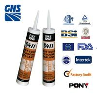 Transparent silicone spray sealant 1200 adhesive for glass