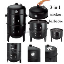 Outdoor smoker grill bbq