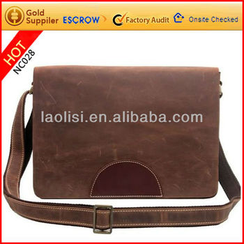 Alibaba china bags supplier brand leather sling bag side bag for men