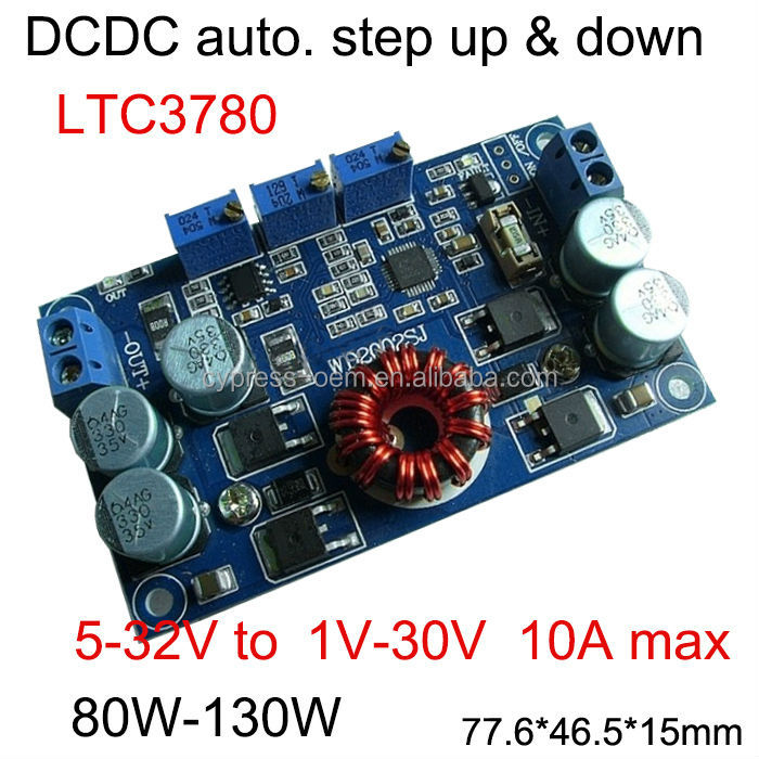dc dc LTC3780 automatic step up and down power module with constant current and constant voltage 12V 24V vehicle power supply
