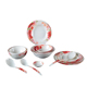 Hot design holiday produce plastic melamine Christmas dinnerware