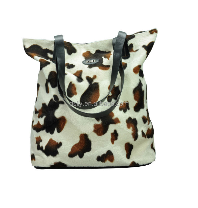 Leopard Printed Fabric Tote For Women, Leopard Print Oversized Shopper Shoulder Bag, X8023S140002
