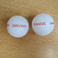 Custom logo printed 2 piece driving range golf balls