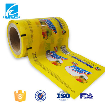 Custom Printing Laminated Cold Seal Ice-lolly Packaging Roll