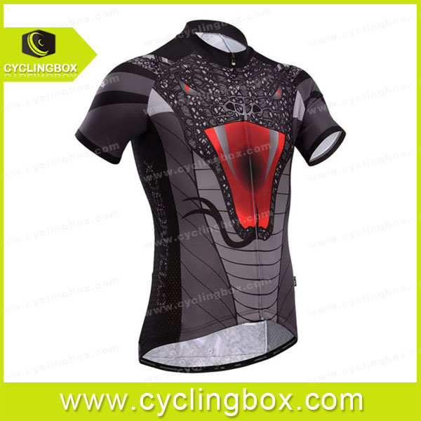 black-gray high quality fashion design outdoor sport wear/bike jersey/cycling clothes with customized