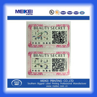 digital printing labels stickers with unique QR code