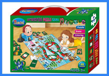 Educational paper kids puzzles board game pieces toy