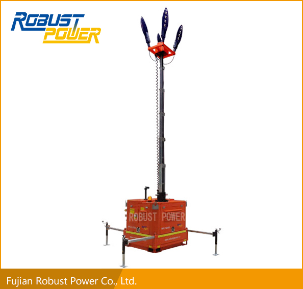 Electric battery system Mobile Light Tower hybrid diesel 4*120W