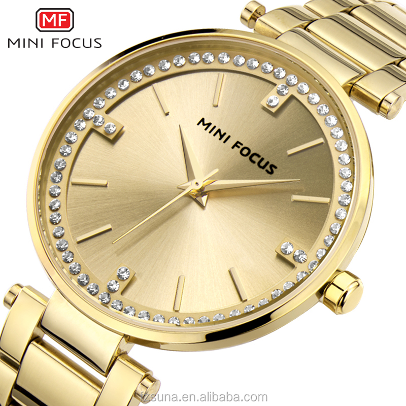 MINI FOCUS Brand Luxury Hour Women Watch Casual Quartz Bracelet Diamond Minimalist Watch
