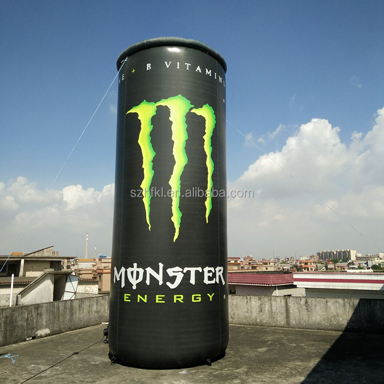 promotion monster energy drink giant inflatable beverage can