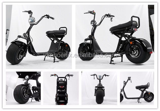 2017 best christmas gift 1200w 72v 12ah city coco harley electric scooter with double seat,APP,mirrors and Big Round Headlight