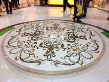 Marble Medallion Floor Inlay Cut by waterjet Machine Customized Designs
