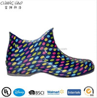 (PVL479) Ankle boot for woman Sex PVC transparent clear rain boots factory