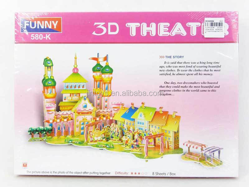 Kids Toys Plastic 3D Cartoon Puzzle, Assembling toys for wholesale, Educational Toys for children, DC025853