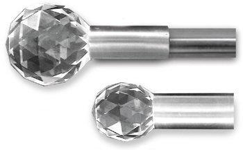 crystal finials curtain rods. gold curtain rod hardware pinterest