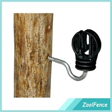 Hot Sales Electric fence Gooseneck Distance Ring Insulator For Wood Post