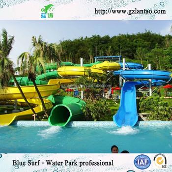 Spiral fiberglass water slide for sale swimming pool slide - Used swimming pool slides for sale ...