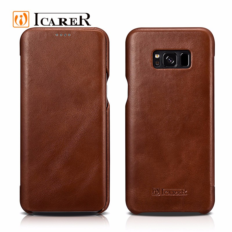 Business Style Leather Flip Mobile Phone Cover Case for Samsung Galaxy S8/ S8 plus