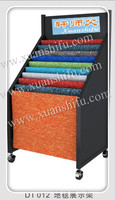 Carpet roller display stand rack / rug booth furniture / exhibition equipment for carpet rug