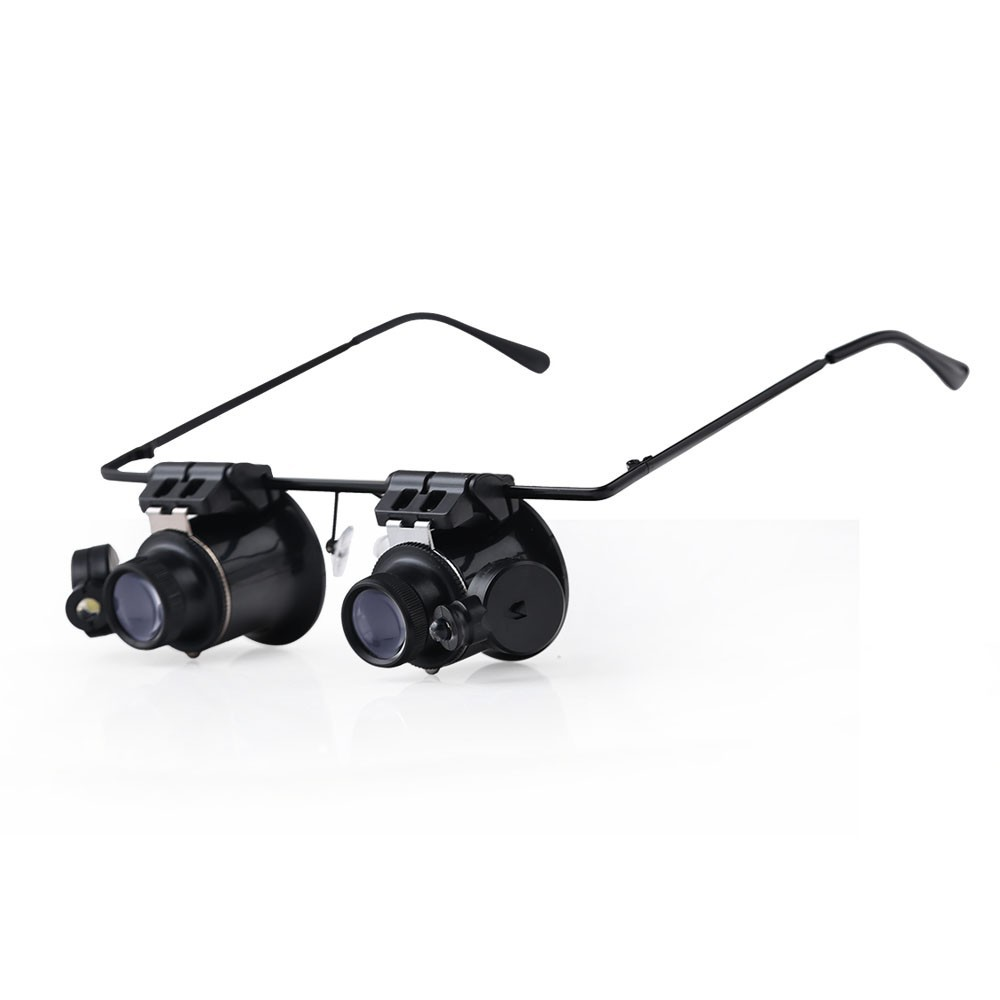 BIJIA Watch Repair Magnifier Loupe 20X Glasses With LED Light