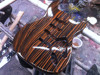 Zebra wood CNC made Carving MST electric guitar body kit