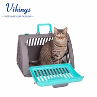 wholesale foldable plastic collapsible pet travel carrier pet crate Assorted Color