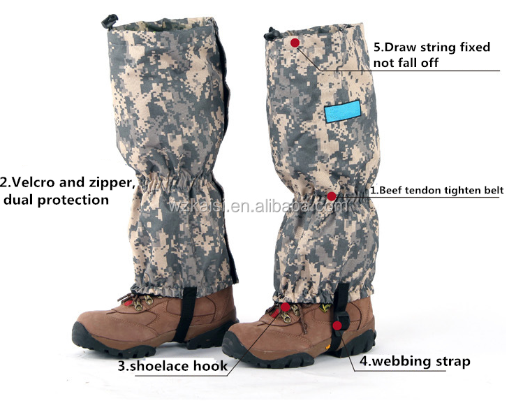 High quality military leg gaiters
