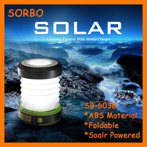 Promotional LED Hanging Garden Lantern,Emergency Mobile Phone Charger,Portable Solar Camping Lantern for Outdoor