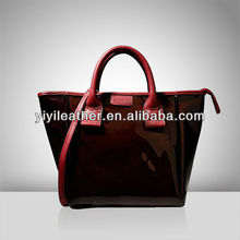 S135 Fancy Tote Handbag for Women,Wholesale Patent PU Shopping Bag