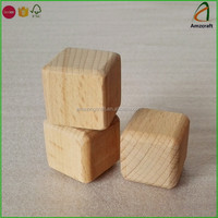 Beech Rounded Corner Wood Building Blocks,Wood Cubes with Smooth Sanded Face