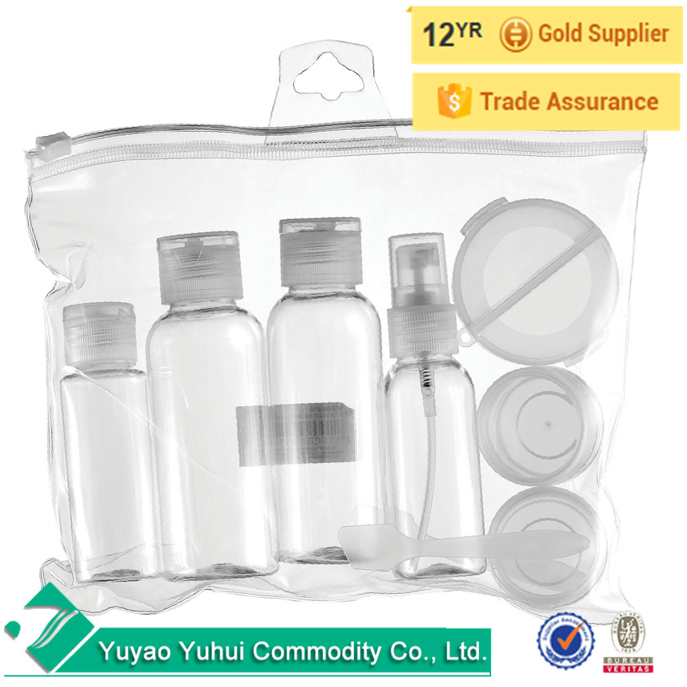 Mini 7 Pcs Travel Bottles Set Lightweight Skincare Empty Cosmetic Container Set