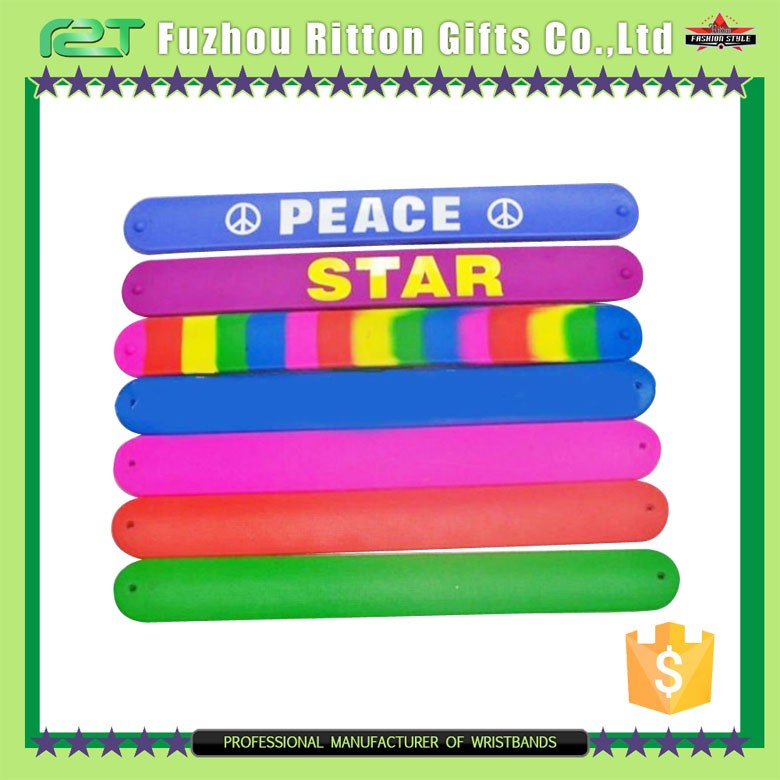 2016 hot promotional printable silicone slap band