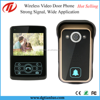 3.5 Inch LCD Digital Lock Wireless Video Door Phone with PIR Sensor