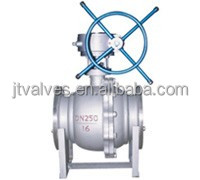 Stainless Steel API DIN GB metal sealed Trunnion type Ball valve