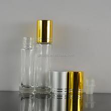 1/3 oz glass refillable roll on bottle with roller ball and cap