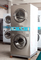commercial double stack frequency coin operated washer and dryer /coin operated laundry machines
