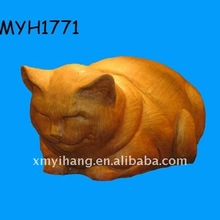 2012 new fashion and hot sale adorable terracotta sleeping fat cat statue