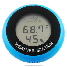 Barometer Digital LCD Thermometer Weather Station Round Wall Mounted Advertising Thermometer Good Gift for You Customer