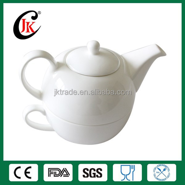 Wholesale tea pot and tea cup porcelain tea set for one person